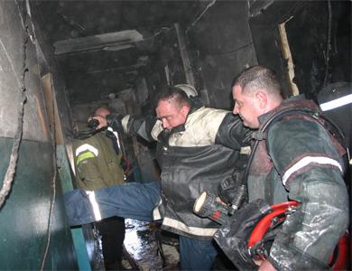 Пожар на Мотеле был виден из центра Полтавы