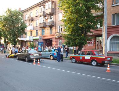 В центре Полтавы насмерть разбился мотоциклист