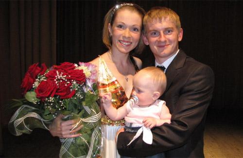 Краща молода сім'я 2011 року має піврічну донечку
