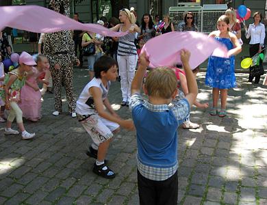Свято для дітей на вулиці Жовтневій
