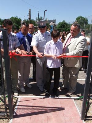 У Нових Санжарах відкрили автомістечко для школярів