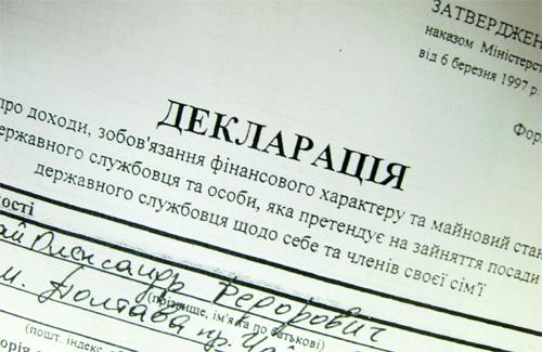 Податкова декларація Олександра Мамая