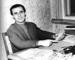 Василь Симоненко за роботою