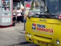У Полтаві на пасажирський автобус впав стовп
