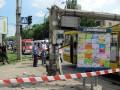 У Полтаві на автобус впав стовп