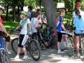 В велопробеге учавстовали не только мужчины, но и женщины разных поколений
