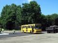 DAB/Scania на в то время конечной 33-го маршрута «Дендропарк» во время завершительных работ постойки новой дороги  пос. Яковцы