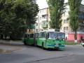 Гармошка поворачивает с ул. Алмазной на ул. Циолковского — объезд из-за реконструкции ул. Калинина