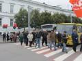 Организаторы акции заранее извинялись перед водителями за блокировку одной из центральных улиц