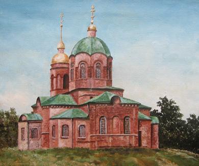 Картина «Храм Преображення Господнього», автор — Надія Дубініна