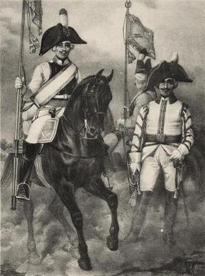 Офицер и солдат Екатеринославского полка