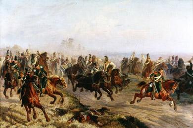 Чирка Ф.А. Преследование конногвардейцами французских егерей под Полоцком 6 августа 1812 года