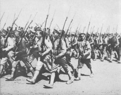Червона армія на марші. 1920 р.