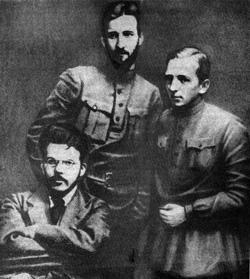 Затонський, Коцюбинський, Бубнов. 1918 р
