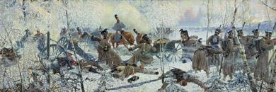 Обстреливает гвардейская конная артилерия