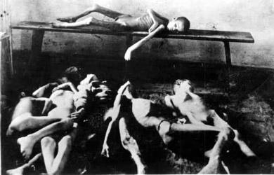 Трупи померлих від голоду дітей, скинуті у морзі