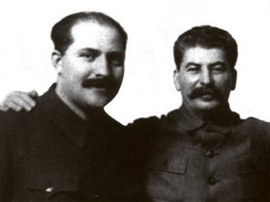 Лазар Каганович і Йосип Сталін