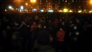 Мітингувальники біля ОДА