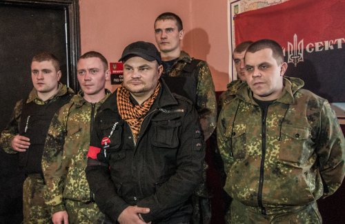 «Правый сектор» Полтавщина (в центре Иван Балацкий)
