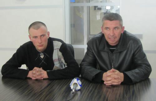 Праворуч Сергій Марченко, ліворуч - Вадим Оніщенко
