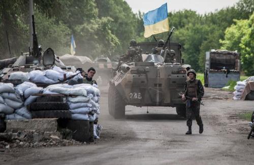 Один из блок-постов на Юго-востоке Украины
