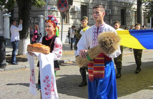Учасники параду «Полтава вишивана»