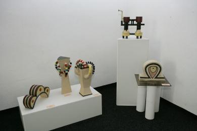 Фрагмент експозиції мистецького проекту Лесі Падун «МЕТАморфорзи»