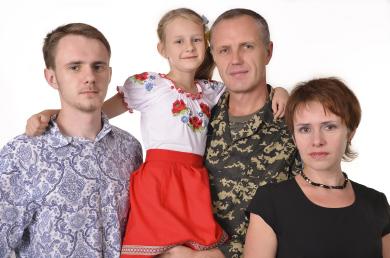 Сергій Бульбаха з родиною