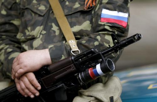 Пророссийский тероррист на востоке Украины