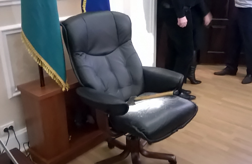 Сергій Каплін засипав сіллю кабінет Олександра Мамая