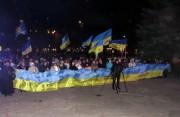 Святкування річниці біля Полтавської ОДА