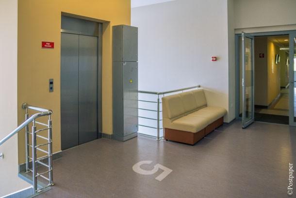Біля ліфту (фото – ucu.edu.ua)