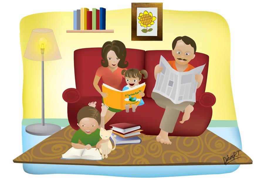 Сімейне читання (фото – scarletcord.deviantart.com)