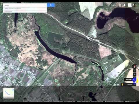 Непостроенная ж/д ветка Гадяч - Ахтырка со спутника