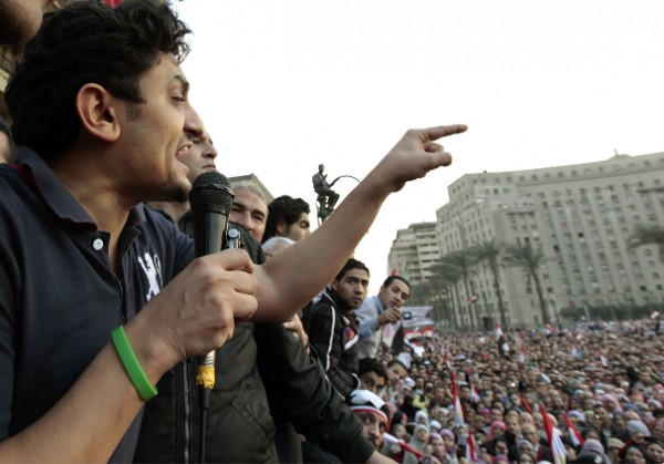 Ваель Гонім вже на оффлайнових протестах (фото – abdul-vakhed.livejournal.com)