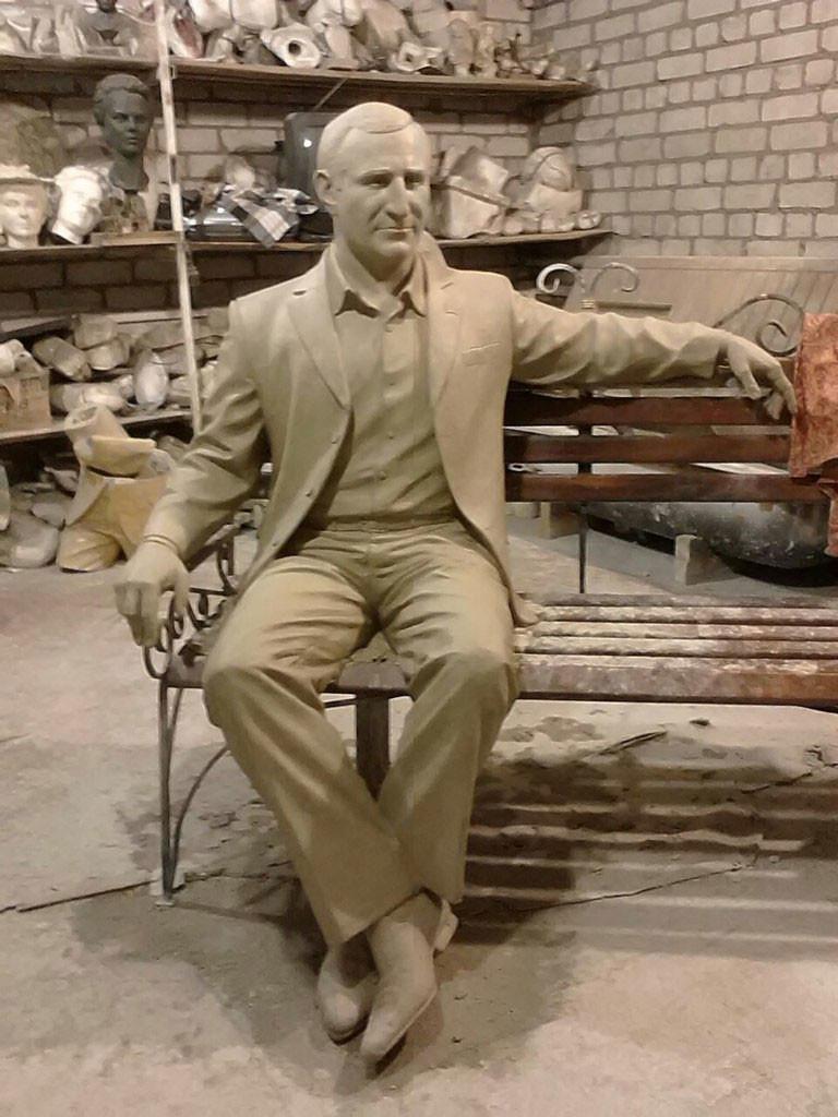 Рабочий вариант скульптуры Олега Бабаева