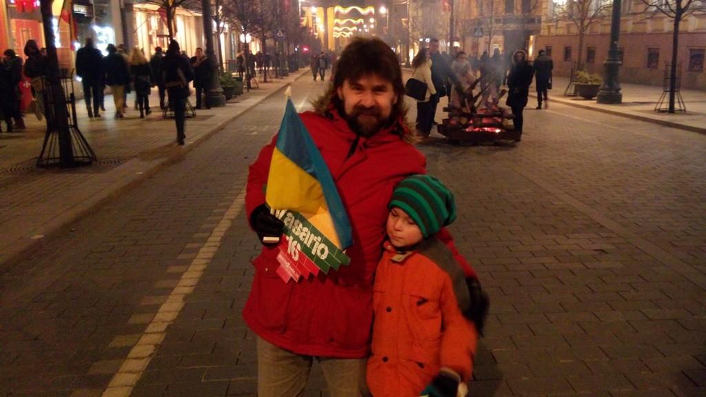 Литовці та український прапор