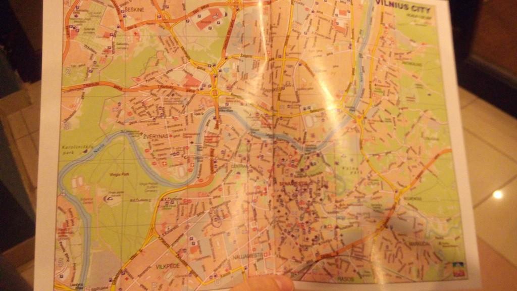 Карта Вільнюсу