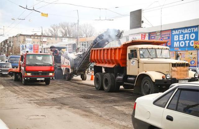 В Кременчуге начались дорожные работы
