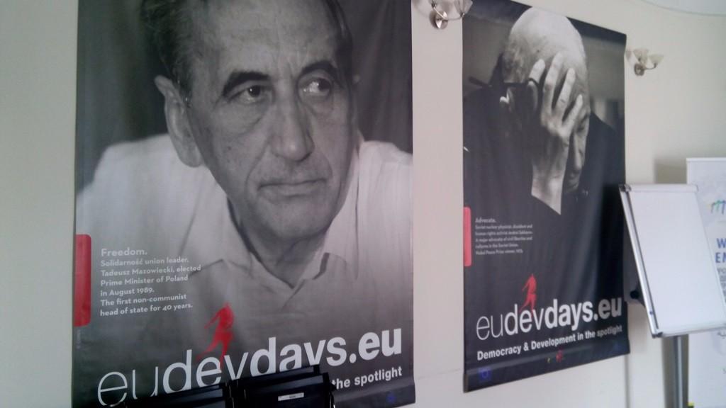 Плакати Мазовецькі і Сахарова в організації Становські