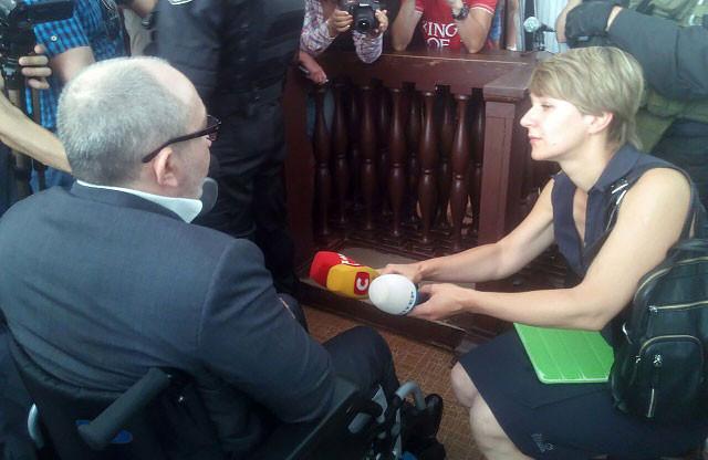 Кернес дает интервью журналистке