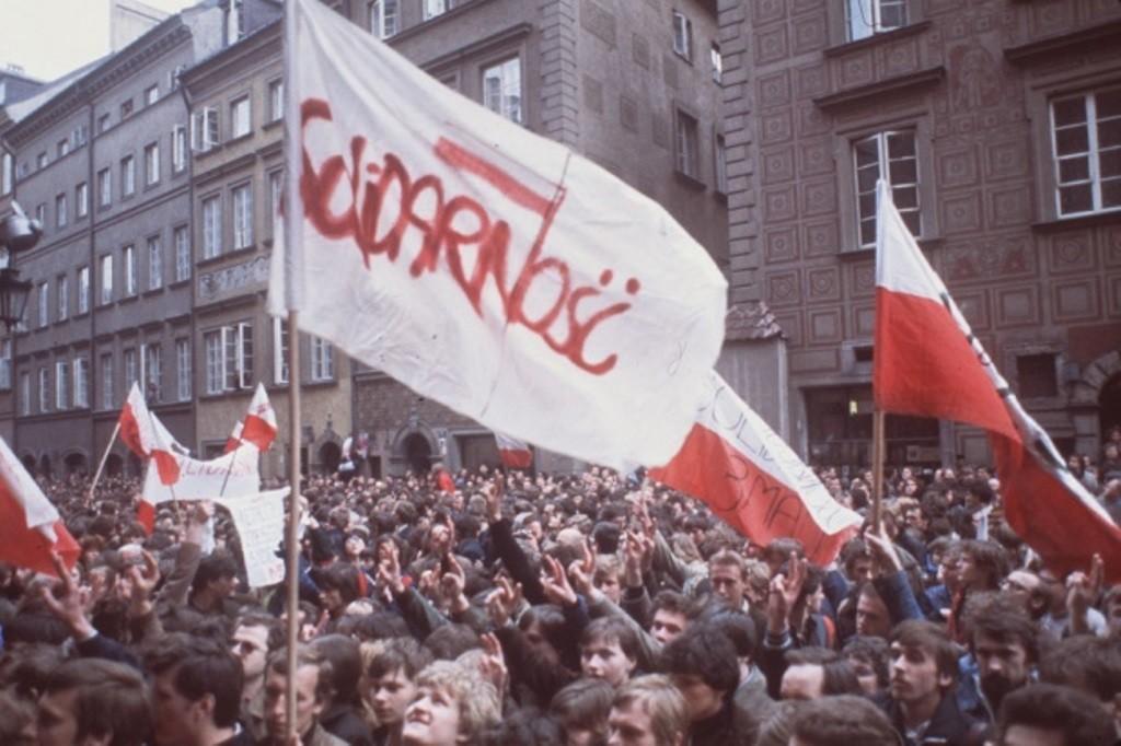 """Демонстрація """"Солідарності"""" у Варшаві, травень 1982 рік (фото – Associated Press)"""