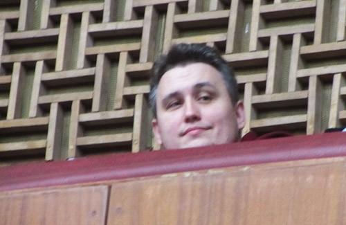 Діонісій Каплін на балконі сесійної зали