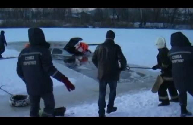 УПолтаві під лід провалився автомобіль