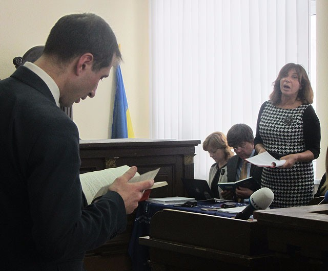 Прокурор Ганилов и адвокат обвиняевых Изовитова