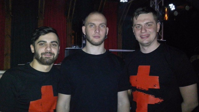 Полтавські ультрас разом з Петром Лосевським, вокалістом «Brutto»