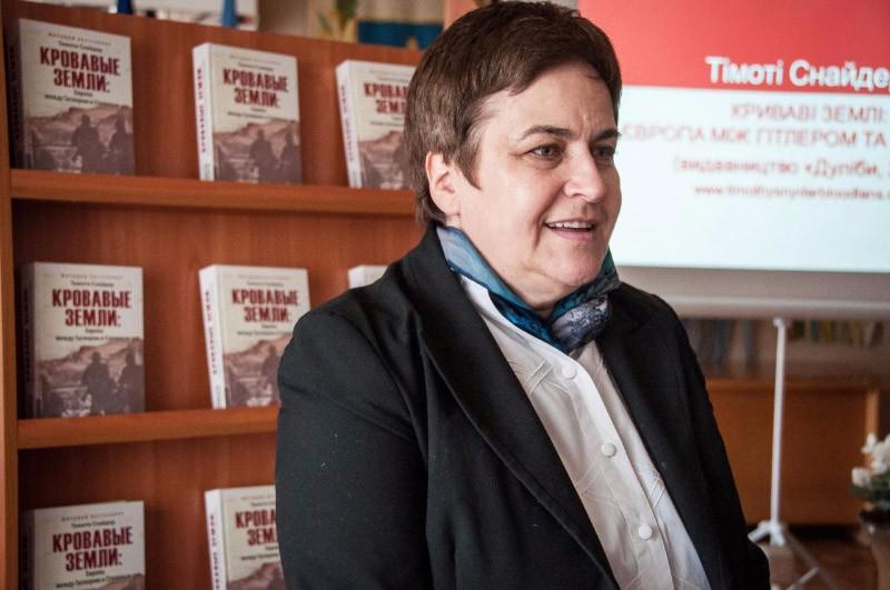 Директор видавництва «Дуліби» Марина Гримич на полтавській презентації