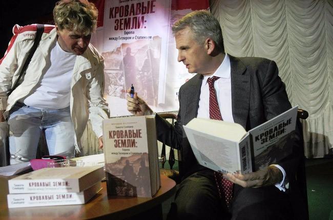Тімоті Снайдер на презентації цієї книги у Києві
