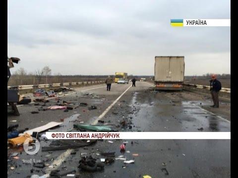 Смертельна ДТП на Полтавщині: мікроавтобус зіткнувся з вантажівкою