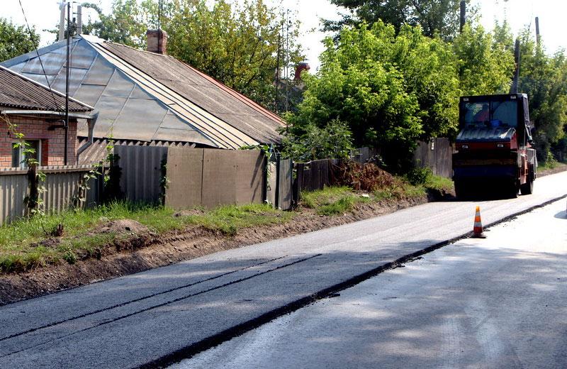 Ремонт дорожного покриття на вулиці Сакко